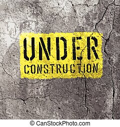 Under Construction Sign. Vector