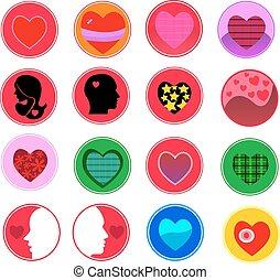 Heart Icon Set. Vector
