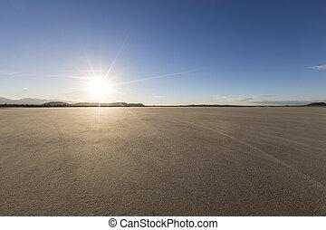 El Mirage Afternoon - Afternoon sun at El Mirage dry lake...