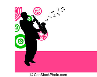 saxophonist - Jazz saxophonist theme. Vector illustration...