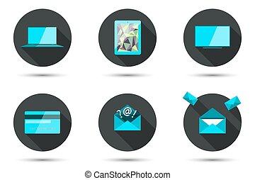 Set of stylish icons