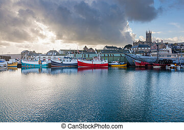 Penzance Harbour Cornwall - Dramatic sky over Penzance...