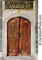 Topkapi - architectural details inside the Topkapi Palace in...