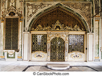Topkapi - architectural details inside the Topkapi Palace in...