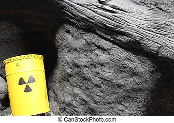 atómico, barril,