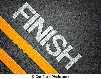 finish Text Writing Road Asphalt Word Floor Ground