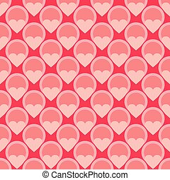 Pink vector tile hearts background - Pink vector tile...