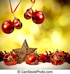 Dekoration, Fonds, traditionelle, Weihnachten, Feiertage