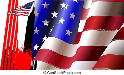 Cover for brochure with USA image and American flag