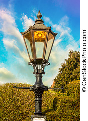 Stratford upon Avon Street Lamp - Weathered old fashioned...