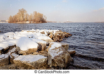 Snow Over the River