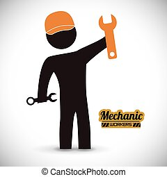 mechanic design  - mechanic  design , vector illustration