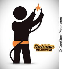 electrician design - electrician design , vector...
