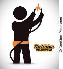 electrician design - electrician design , vector...