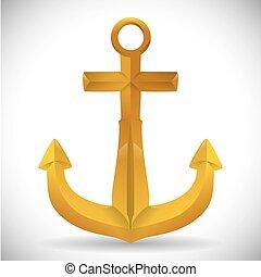 anchor design , vector illustration