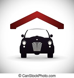 garage design - garage design , vector illustration