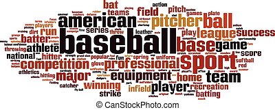 Baseball word cloud concept Vector illustration