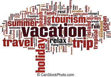 Vacation word cloud concept Vector illustration