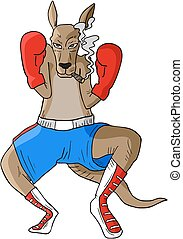 kangaroo boxing - Creative design of kangaroo boxing