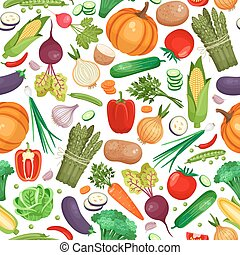 Vegetable organic food seamless background - Seamless...