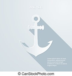 Paper anchor icon - Anchor gray can be used as an icon, an...