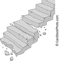 Broken stair - Creative design of broken stair