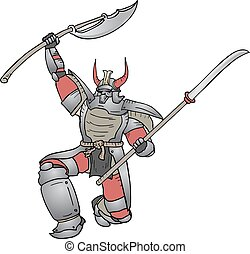 Shogun vector Shogun man - Creative design of shogun man