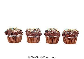 quattro, focaccina, saporito, cioccolato