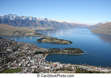 View across Queenstown New Zealand - View across Queenstown...