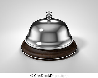 service bell isolated on white background