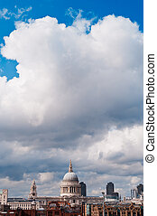 St Pauls Cathedral and clouds - View from Tate Modern in a...