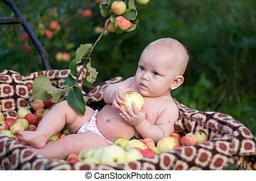 The rich harvest - Portrait of the 5 months baby girl...