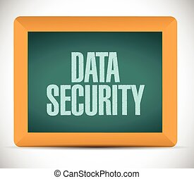 data security sign post illustration design over a white...