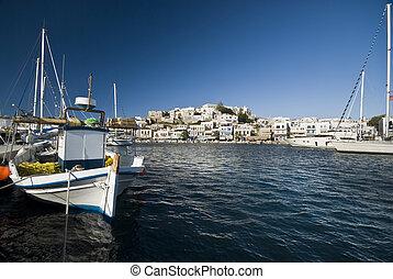 Harbour in Naxos - Naxos, Greece.