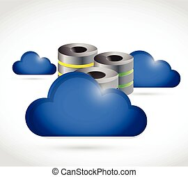 cloud computing storage concept illustration design over a...
