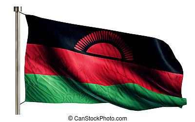 Malawi National Flag Isolated 3D White Background