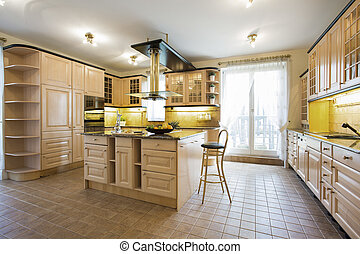 Luxury kitchen in traditional design - Interior of luxury...