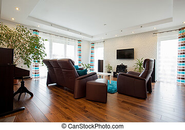 Living room - Picture of bright modern living room