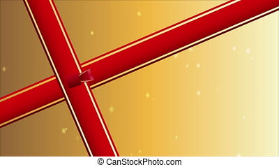 Gift ribbon - Red ribbon gift, Video Animation, HD 1080