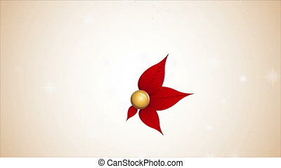 Christmas flower - Red christmas flower Video Animation, HD...