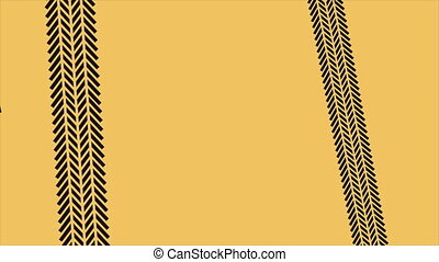 Tracks background - black car tracks on yellow background...