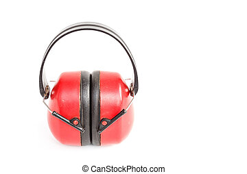Ear muffs or defender isolated on white background