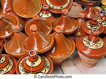 Ceramics for sale in Marrakech, Morocco