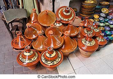 Ceramics for sale in Marrakech, Morocco