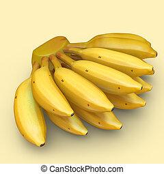 Bananas - A banana is an edible fruit, botanically a berry,...