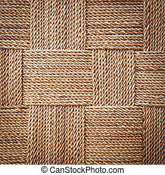 wicker texture background, traditional handicraft weave...
