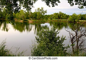Lakeview at the park - taken at Sedgwick county park in...