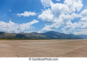 Airport Dubrovnik - Runway of Dubrovnik Airport on a...
