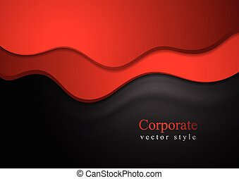 Dark abstract smooth waves background Vector illustration