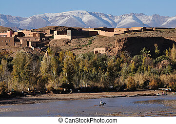 Berber village in Morocco, Africa